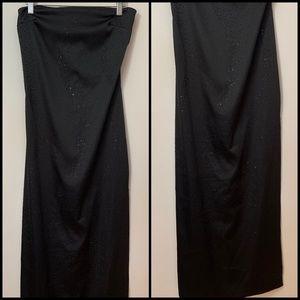 VNTG Rampage Black Satin Long Formal Dress Size 5